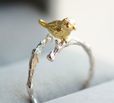 925 Sterling Silver Rings Bird Ring For Girl