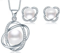 925 Sterling Silver Natural Pearl Jewelry Sets