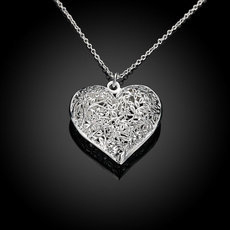 Silver Plated Heart Shape Necklace