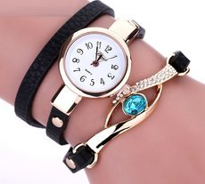 Eye Gemstone Bracelet Watch