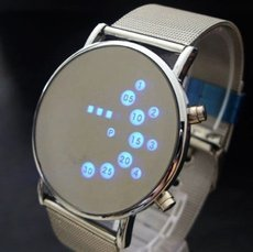 Iron Man Blue LED Watch